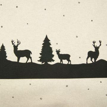 Kerststof zwart hert voor kersttafels