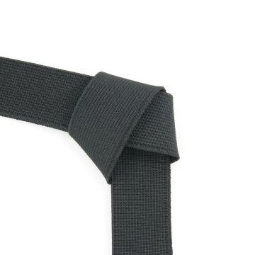 Taille elastiek zwart 25mm