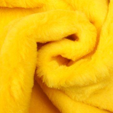 Pluche / Teddy geel kort