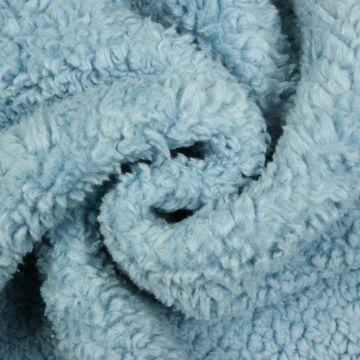 Teddy Baumwolle blau Kräusel