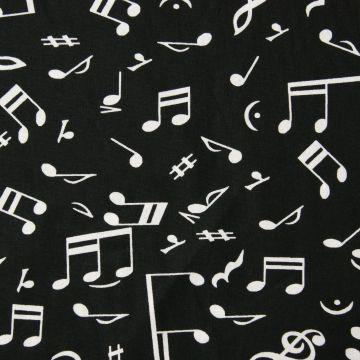 Katoen muziek zwart
