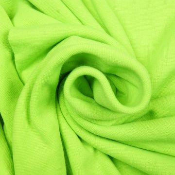 Boordstof tricot fluor groen smal