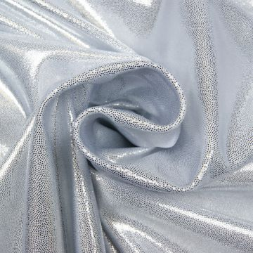 Glitter/Dans lycra 4way stretch zilver