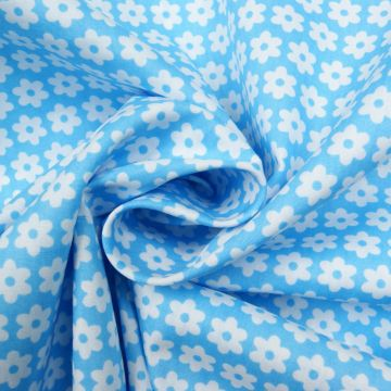 Boerenbont l-blauw bloempje