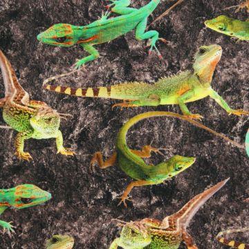 Digitale fotoprint tricot reptielen