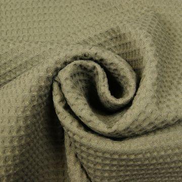 Waffeltuch Armeegrün 100% Baumwolle doppelfädig