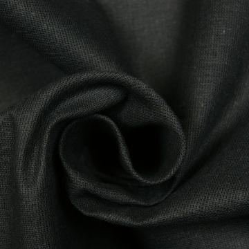 Kaasdoek zwart doorzichtig 160cm breed