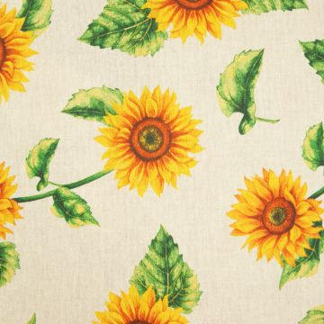 Dekostoff Sonnenblumen