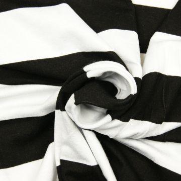 Strepen tricot zwart/wit 40mm