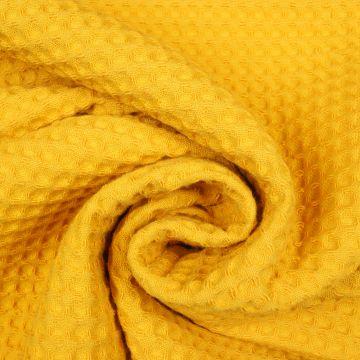 Waffeltuch ocker 100% Baumwolle doppelfädig