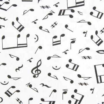 Katoen muziek wit
