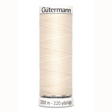 Gütermann naaigaren 200mtr écru nr.802
