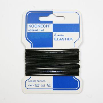 Elastikkordel für Hüte schwarz 1mm