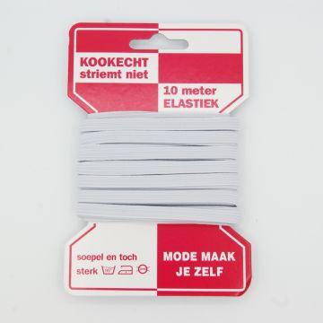 Directoire elastiek wit 6mm