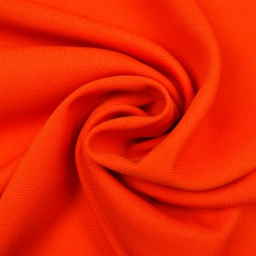 Brandhemmender Stoff orange 280cm breit + Zertifikat