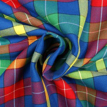 Schotse ruit kobalt/geel/groen/rood