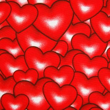 Texturé hartjes Valentijn