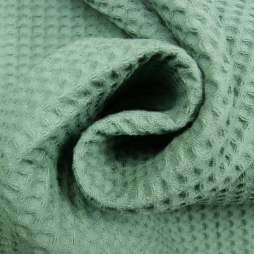 Waffeltuch altgrün 100% Baumwolle doppelfädig