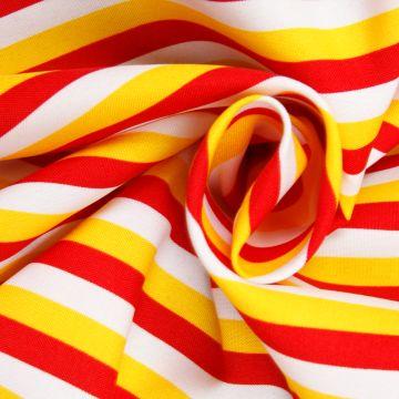 Texturé  Oeteldonkse vlag rood/wit/geel