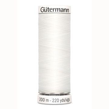 Gütermann naaigaren 200mtr wit nr.800