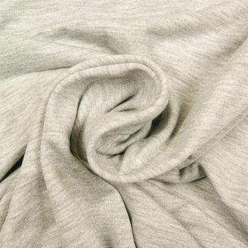Uni tricot viscose grijs melee licht
