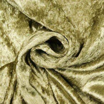 Velours de Panne olijfgroen