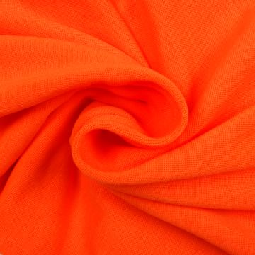 Bündchenstoff Trikot fluor-orange schmal