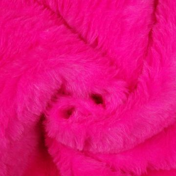 Pluche / Teddy fuchsia kort
