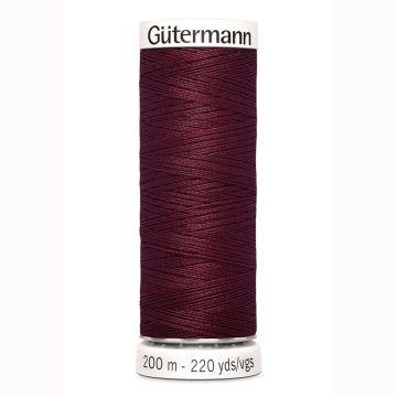 Gütermann naaigaren 200mtr donker bordeaux nr.369
