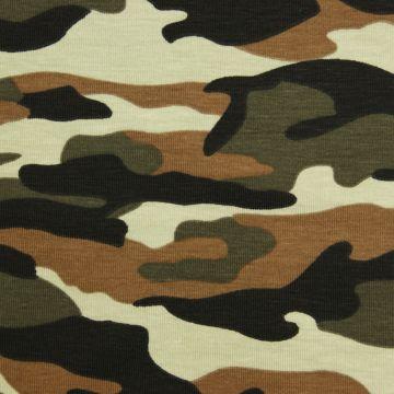 Camouflagedruck Trikot Baumwolle