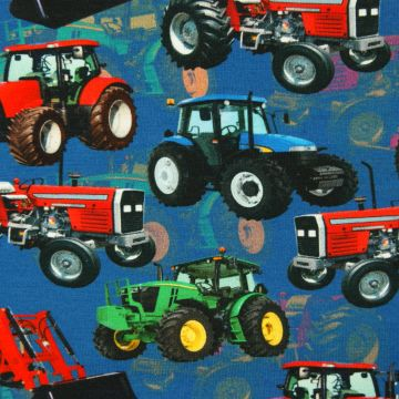 Digitale fotoprint tricot tractor
