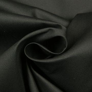 Poplin/Laken-Baumwolle 100% / schwarz