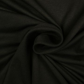 Uni tricot viscose zwart