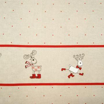 Weihnachtsstoff rot Hirsch