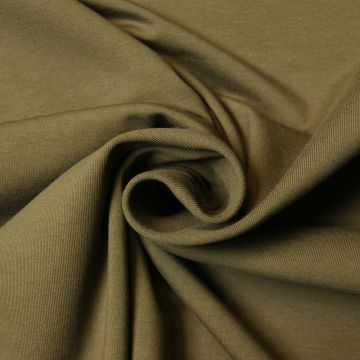 Uni tricot katoen legergroen